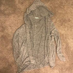 Grey Cardigan w Hood